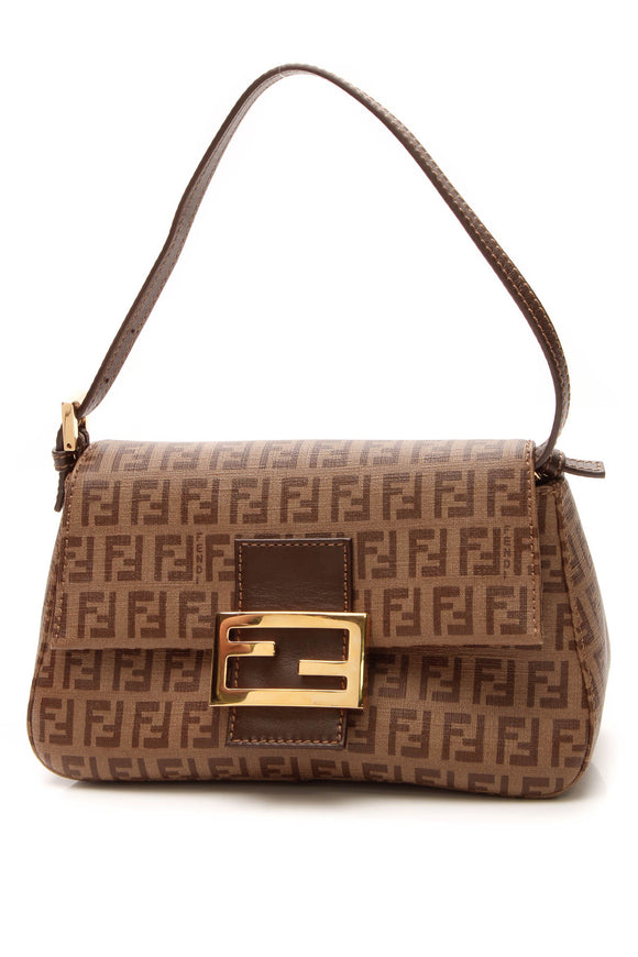 Fendi Baguette Bag - Brown Zucchino
