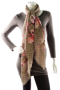 Gucci Blooms Shawl Scarf - Rose/Beige