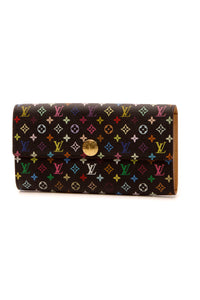 Louis Vuitton Sarah Wallet - Black Multicolore Monogram