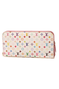 Louis Vuitton Litchi Insolite Wallet - White Multicolore Monogram