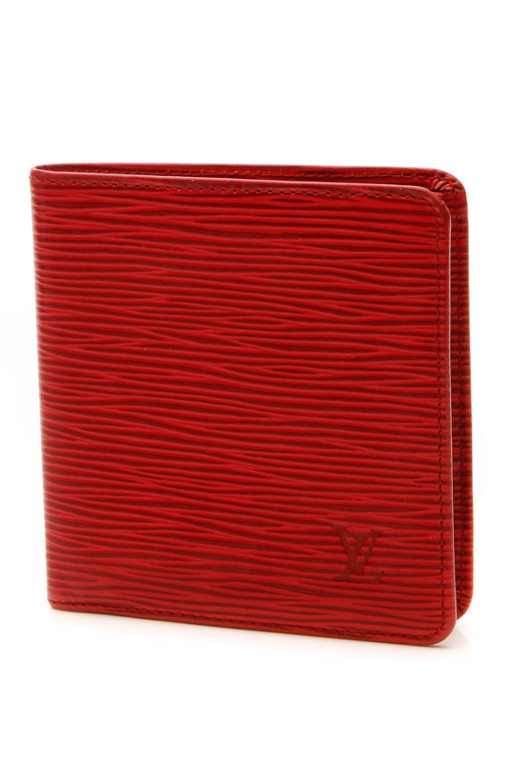 Louis Vuitton Vintage Epi Billfold Wallet - Red