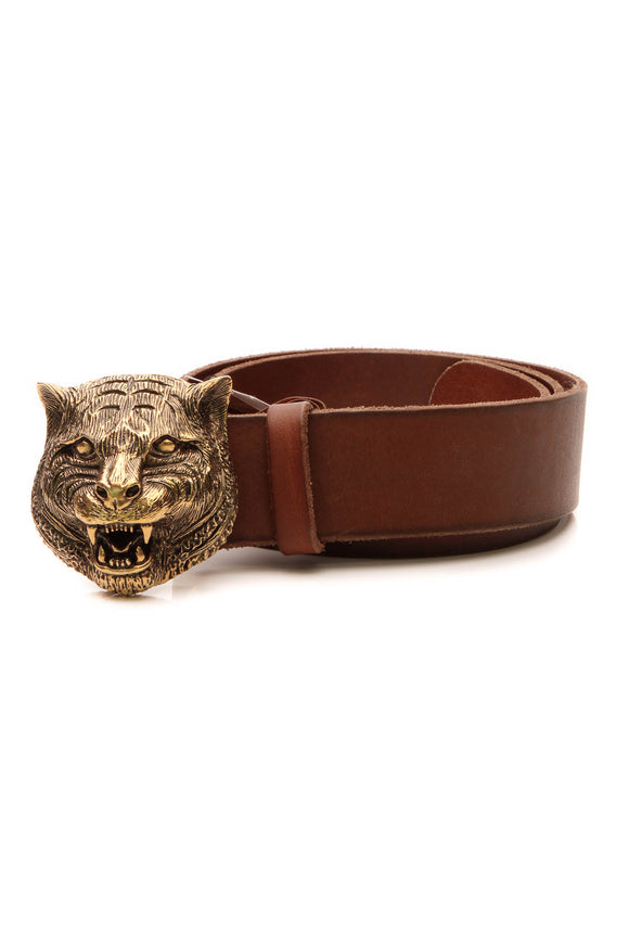 Gucci Feline Belt - Brown Size 32