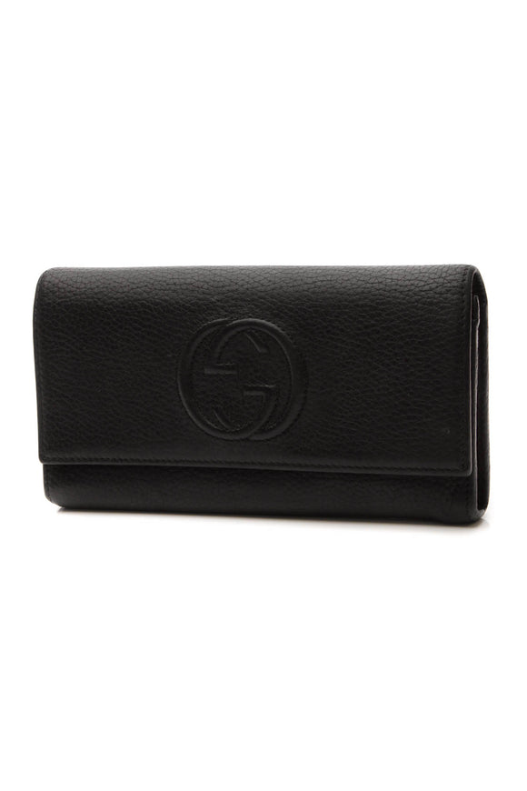 Gucci Soho Continental Wallet - Black