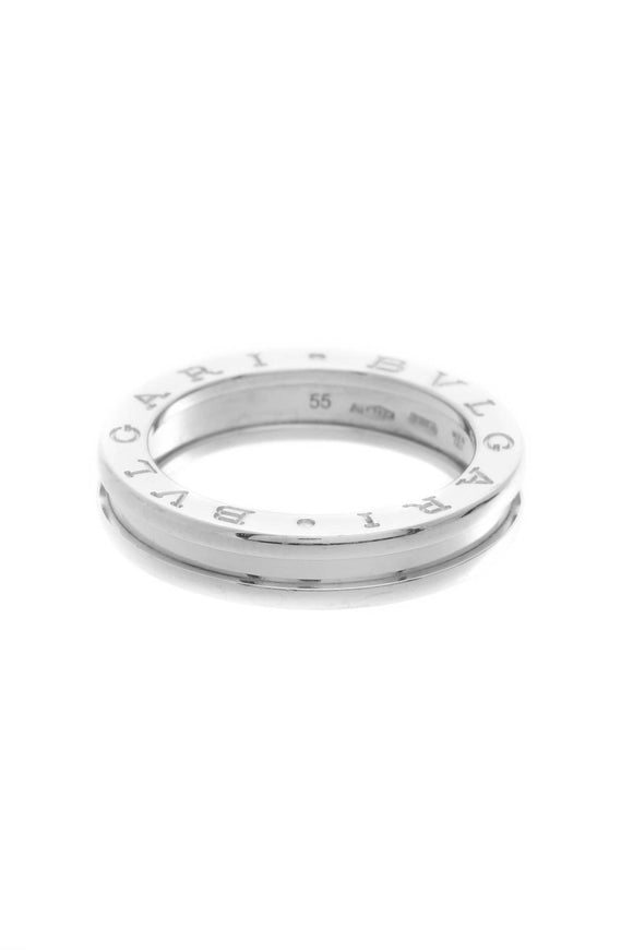 Bvlgari B. Zero1 One Band Ring - White Gold Size 7.25