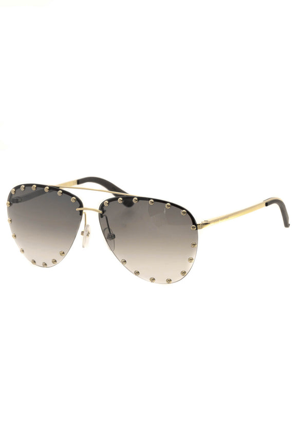 Louis Vuitton The Party Aviator Sunglasses - Z0926V Gold/Brown