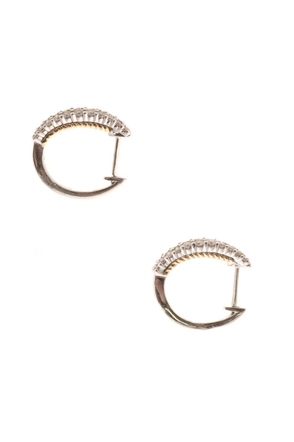 Fine Jewelry Diamond Huggie Hoop Earrings - White Gold