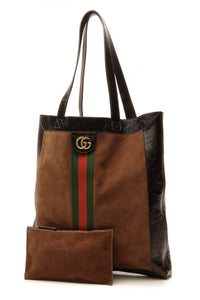 Gucci Ophidia Large Tote Bag Brown