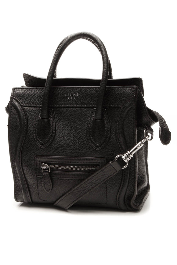 Celine Nano Luggage Crossbody Bag - Black
