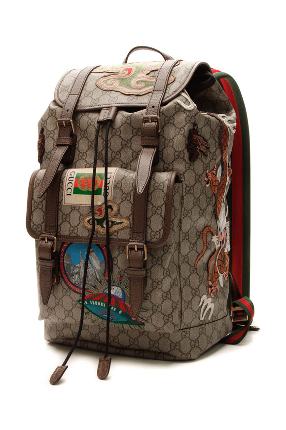 Gucci Courrier GG Backpack - Soft Supreme Canvas