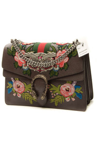 Gucci Embroidered Owl Dionysus Medium Shoulder Bag - Brown