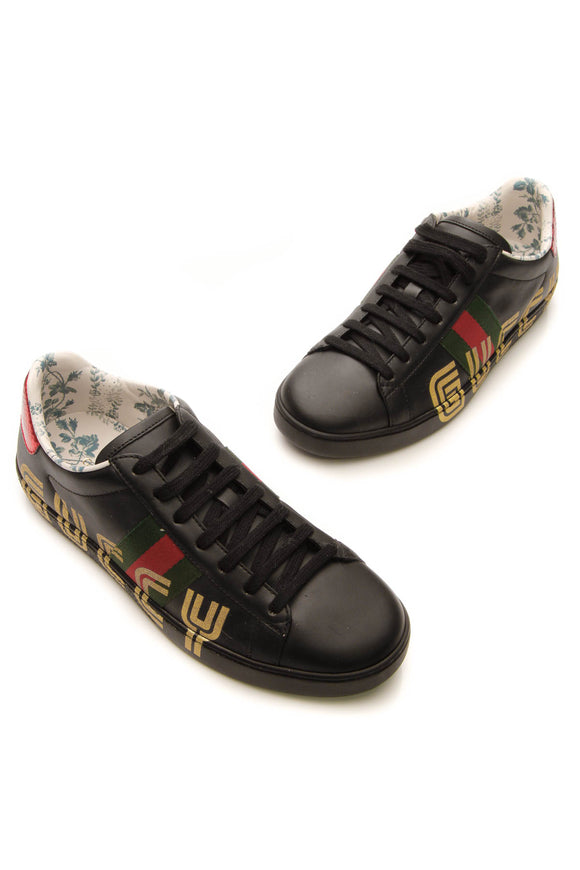 Gucci Web Guccy Ace Sneakers - Black Size 37