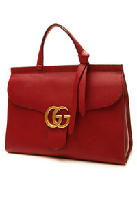 Gucci Marmont Top Handle Bag - Red