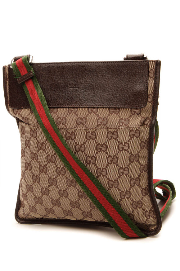 Gucci Web Messenger Bag - Signature Canvas