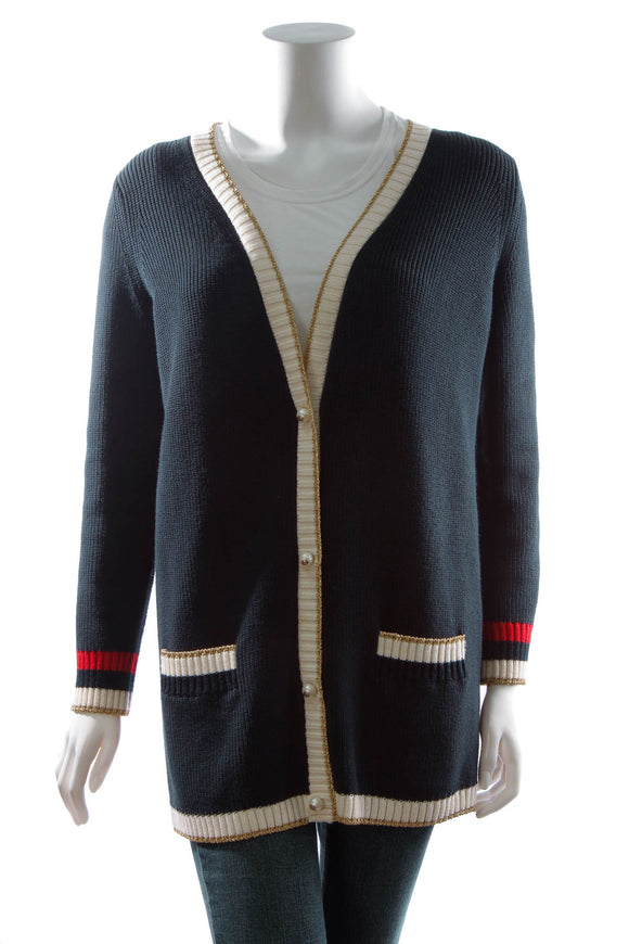 Gucci 'LOVED' Cardigan - Navy Size Medium