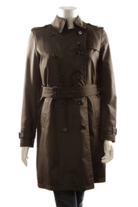 Burberry Trench Coat - Brown Size 4