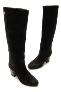 Chanel Knee High Boots - Black Size 37