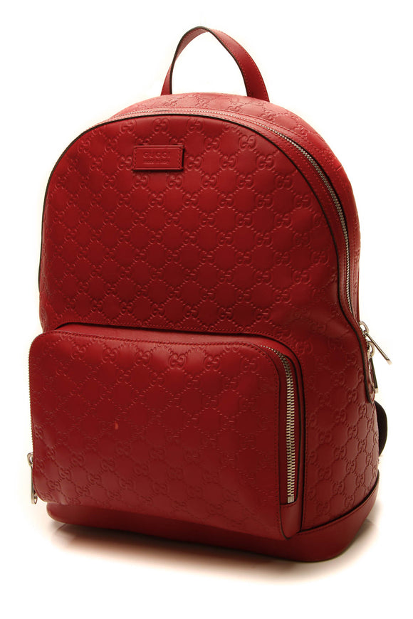 Gucci Signature Backpack - Red Guccissima