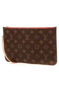 Louis Vuitton Neverfull Pouch Wristlet - Monogram