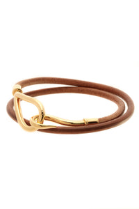 Hermes Bridle Jumbo Double Tour Bracelet/Choker - Brown/Gold