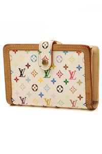 Louis Vuitton Billets Viennois Wallet - White Multicolore Monogram