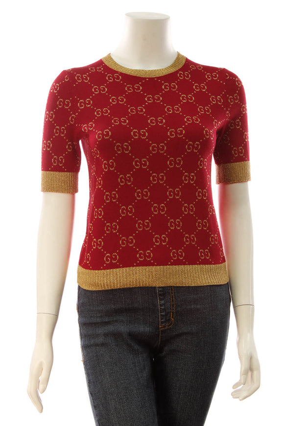 Gucci GG Lame Top - Red Size XXSmall
