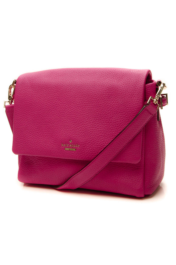 Kate Spade Flap Shoulder Bag - Hot Pink
