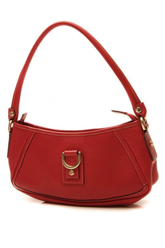 Gucci D-Ring Abbey Pochette Bag - Red