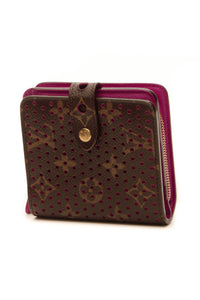Louis Vuitton Perforated Compact Zip Wallet - Monogram/Fuchsia