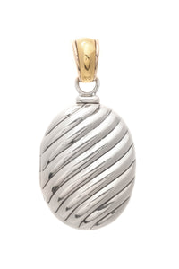 David Yurman Sculpted Cable Locket Pendant - Silver/Gold
