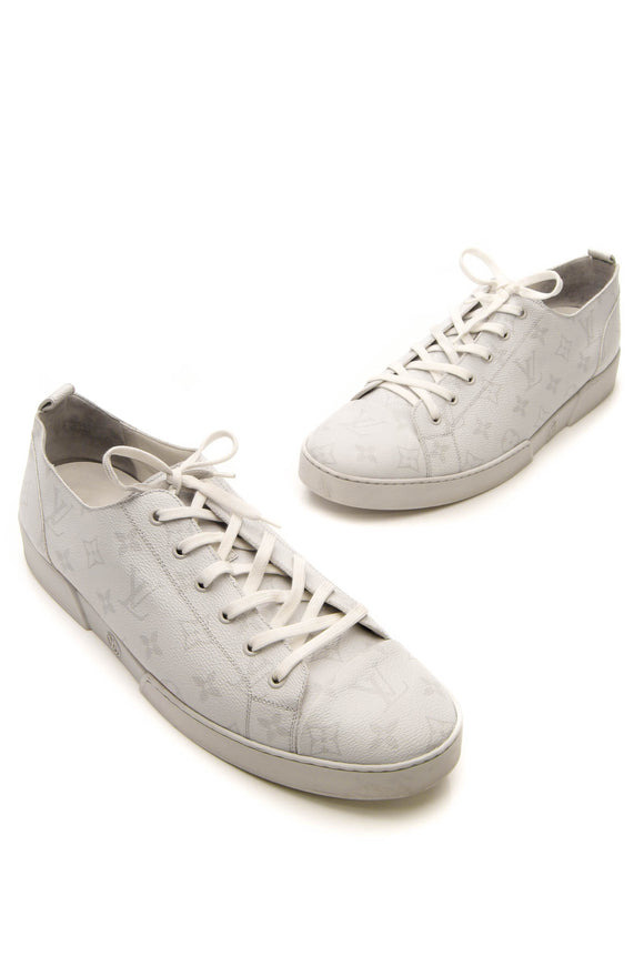 Louis Vuitton Low-Top Men's Sneakers - White Monogram US Size 13