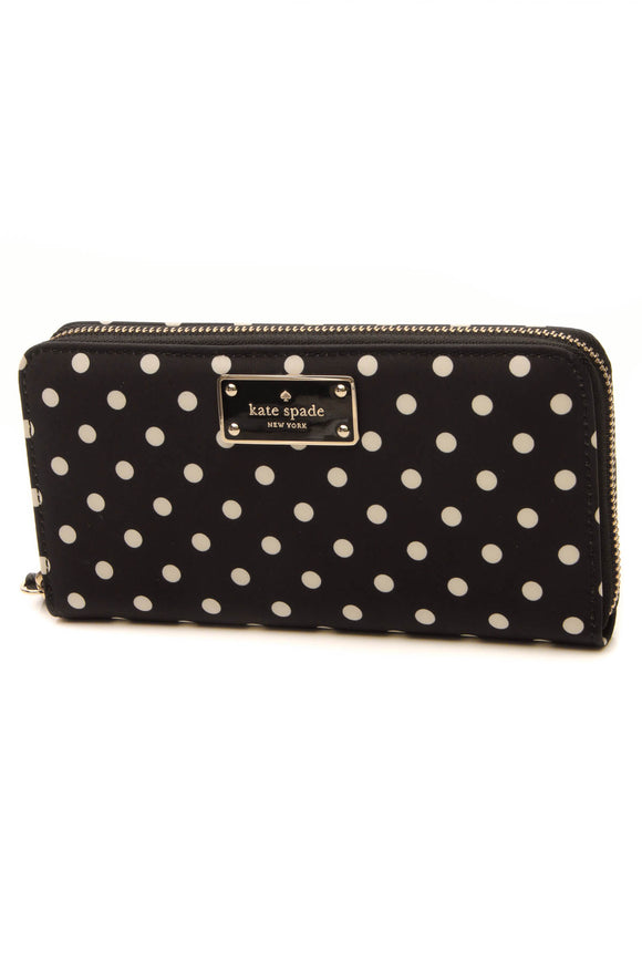 Kate Spade Blake Avenue Neda Zip Around Wallet - Black/White