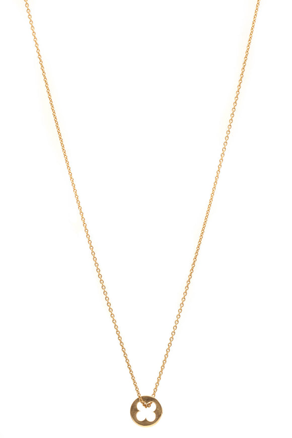 Louis Vuitton Empreinte Pendant Necklace - Yellow Gold