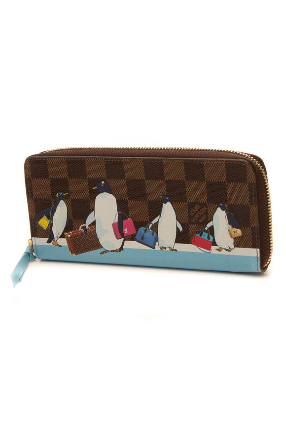 Louis Vuitton 2017 Christmas Animation Clemence Wallet - Damier Ebene