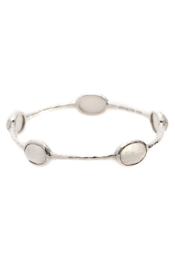Ippolita 5-Stone Rock Candy Bangle Bracelet - Silver