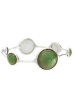 Ippolita Jadeite 6-Stone Lollipop Bangle Bracelet - Silver