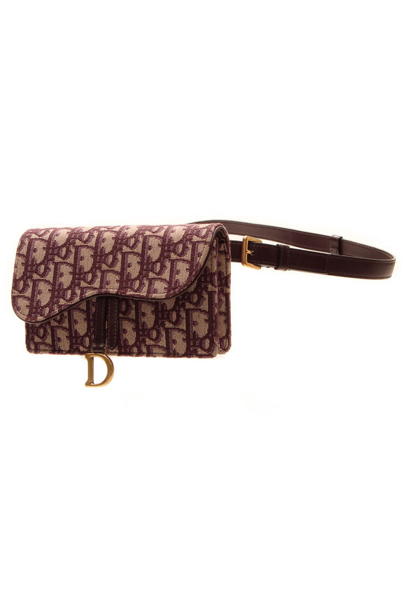 Christian Dior Saddle Belt Pouch - Bordeaux