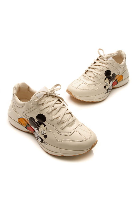 Gucci x Disney Rhyton Men's Sneakers - Cream US Size 12