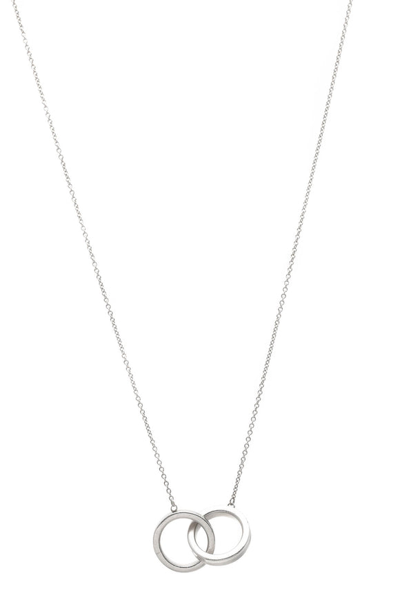 Tiffany & Co. 1837 Interlocking Circles Pendant Necklace - Silver