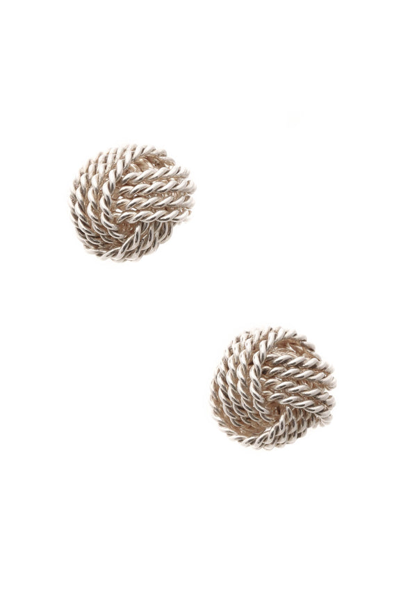 Tiffany & Co. Twist Knot Earrings - Silver