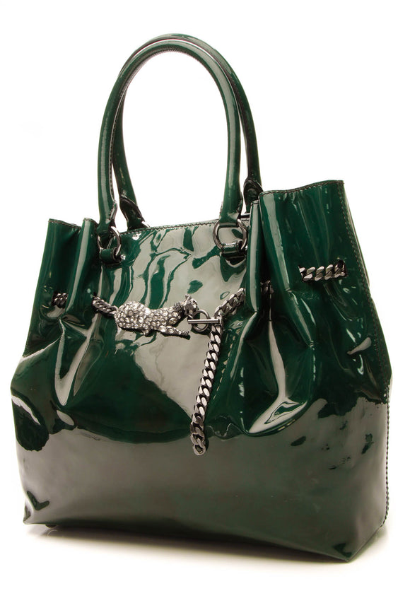 Valentino Crystal Panther Tote Bag - Green