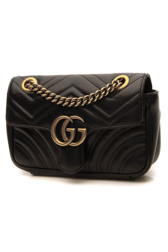Gucci Marmont Mini Bag - Black