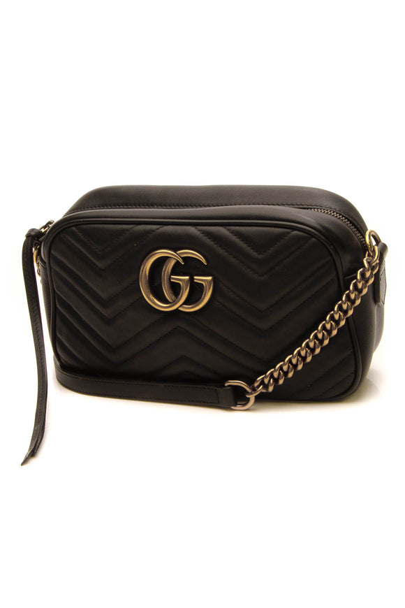 Gucci Marmont Small Crossbody Bag - Black