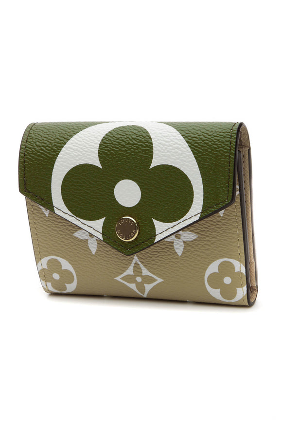 Louis Vuitton Compact Zoe Wallet - Khaki/White Giant Monogram