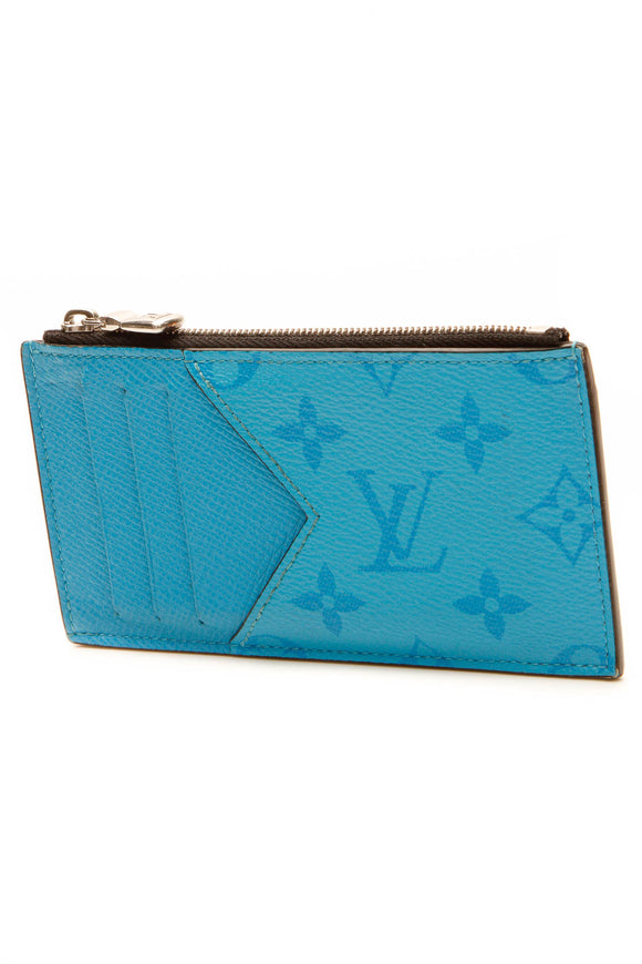 Louis Vuitton Coin Card Holder - Blue Lagoon Monogram