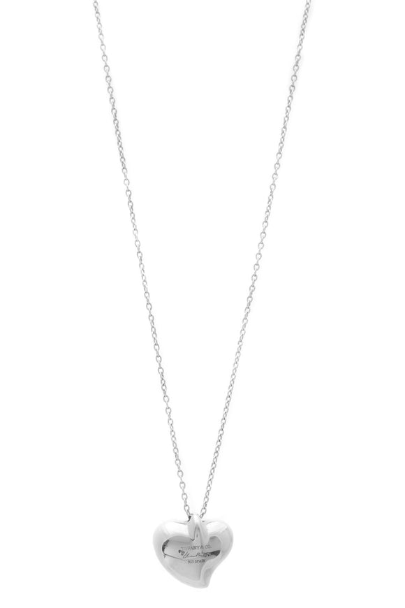 Tiffany & Co. Elsa Peretti Heart Pendant Necklace - Silver
