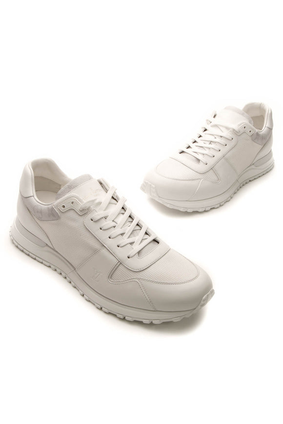 Louis Vuitton Run Away Men's Sneakers - White/Monogram US Size 12