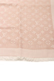 Louis Vuitton Monogram Denim Shawl Scarf - Pink