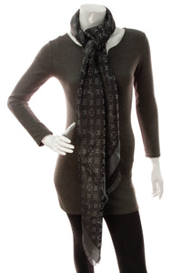 Louis Vuitton Monogram Shine Shawl Scarf - Black