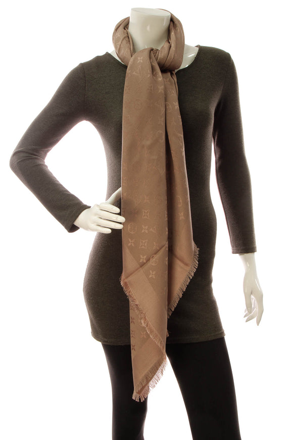Louis Vuitton Monogram Shawl Scarf- Cappuccino