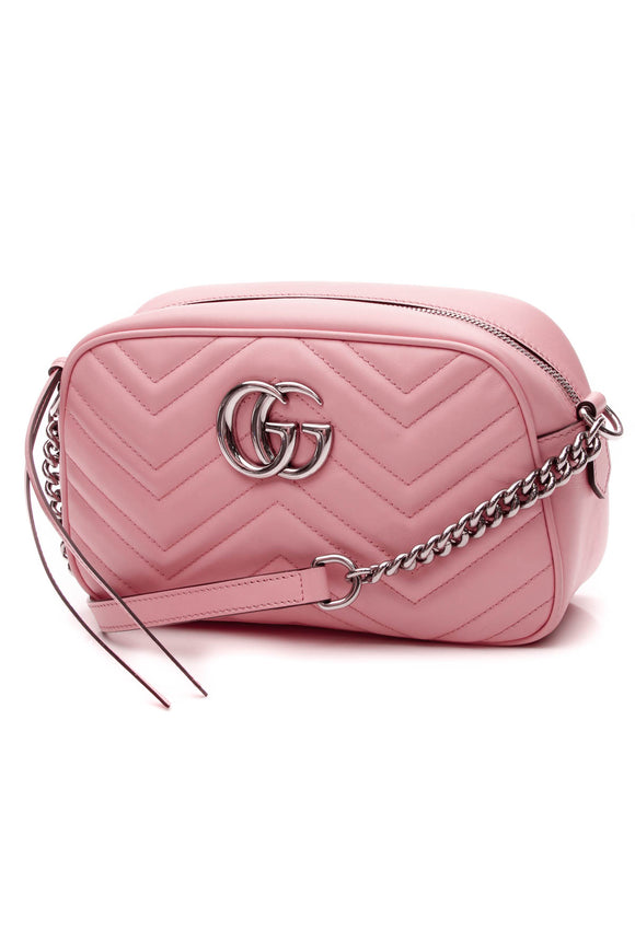 Gucci Marmont Small Shoulder Bag - Pink